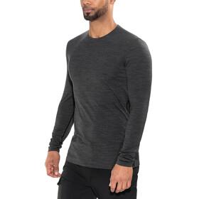 Icebreaker Anatomica LS Crewe Shirt Men jet heather/black